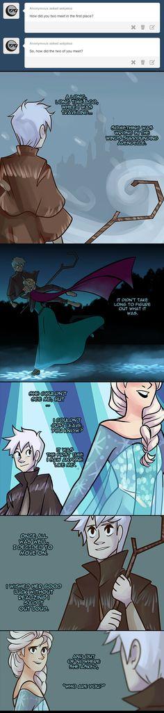 (Rise of the Guardians/Frozen) Jack Frost/Elsa Disney Pixar, Arte Disney, Disney And Dreamworks, Disney Animation, Disney Art, Disney Ships, Animation Movies, Jelsa, Frozen Love