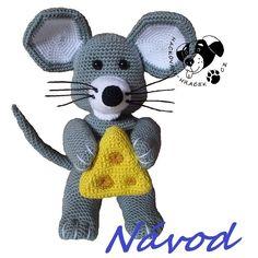 Myšáček se sýrem - návod na háčkování Tweety, Teddy Bear, Toys, Animals, Fictional Characters, Animales, Animaux, Toy, Teddybear
