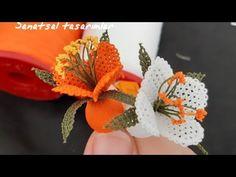 İgne oyasi çiçek nasil yapılır ? tespihlik harika aranjman çicek.  NEEDLE LACE flower - YouTube