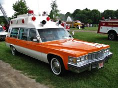 1977 Cadillac Miller-Meteor ambulance at the Frankenmuth 2013 Fire Muster.