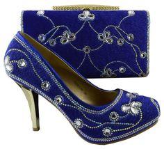 Beautiful Italian Soft Leather Jewel-Accent High-Heel Pumps w/Matching Clutch