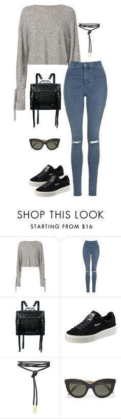 """""""Untitled #3463"""" by meandelstyle ❤ liked on Polyvore featuring Helmut Lang, Topshop, McQ by Alexander McQueen, Puma and Victoria Beckham"""