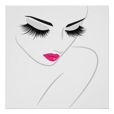 Face Drawing Face long lashes Lash Extension Poster - decor gifts diy home Realistic Eye Drawing, Drawing Tips, Longer Eyelashes, Long Lashes, How To Draw Hair, Learn To Draw, Brow Extensions, Boutique Deco, Hair And Beauty Salon