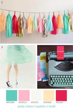 party colors // pastels // fresh