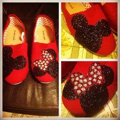Mickey and Minnie Mouse Shoes Disney Shoes, Disney Outfits, Cute Outfits, Disney Fashion, Cheap Toms Shoes, Toms Shoes Outlet, Mickey Mouse Shoes, Minnie Mouse, Disney Trips