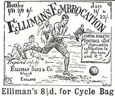 Old Advertisements for Elliman's Embrocation