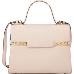 Delvaux Tempete GM (€6.440) ❤ liked on Polyvore featuring bags, handbags, nude, perforated handbag, structured bag, delvaux purse, structured handbag and nude purses