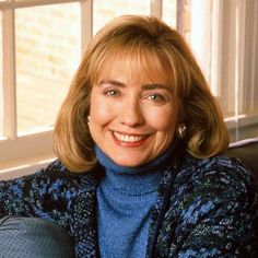 Hillary Rodham Clinton 1992 First Lady of Arkansas Hillary Clinton 2016, Hillary Rodham Clinton, Wispy Bangs, Yearbook Photos, Grow Out, Madonna, Her Hair, Presidents