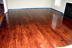 "PLYWOOD FLOORS - cut into 4"" boards and stained."
