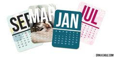 Free Downloadable Calendars for Project Life 2014 | Erika Eagle
