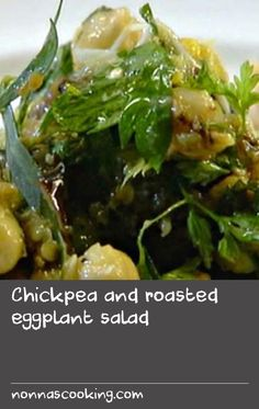 Chickpea and roasted eggplant salad Barbecued Fish Recipes, Pork Roast Recipes, Lamb Recipes, Barbecue Recipes, Cold Lunch Recipes, Cold Lunches, Grilled Lamb, Grilled Fish, Roasted Eggplant Salad
