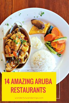 Looking for the best Aruba restaurants? Search no more! This list of 14 must-do food spots includes dinners with an ocean view, bars on Palm Beach and the tips on best places to go for fresh seafood on your vacation. Click to read more or pin and save for later.