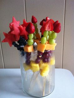 Fresh Fruit Kabobs Idea.