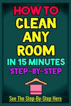 CHECKLIST: Step by step way to clean any room FAST without feeling overwhelmed - daily chores to keep your room clean Overwhelmed Mom, Feeling Overwhelmed, Cleaning Checklist, Cleaning Hacks, Cleaning Schedules, Speed Cleaning, Cleaning Solutions, A Simple Plan, Getting Organized At Home