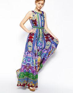 :ASOS Folk Print Maxi Dress