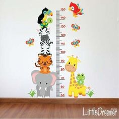 Kids Wall Decals Animal Trees Aib 11 to 20 - $ 950.00 | Dress up Tips and Tutorials Baby Boy Rooms, Baby Bedroom, Baby Boy Nurseries, Baby Room Decor, Nursery Room, Kids Bedroom, Jungle Nursery Boy, Diy Bebe, Kids Room Wallpaper