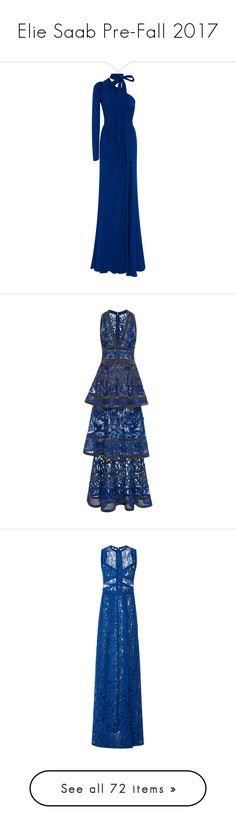 """Elie Saab Pre-Fall 2017"" by sakuragirl ❤ liked on Polyvore featuring dresses, blue, asymmetrical neckline dress, ruched dress, one shoulder sleeve dress, blue sleeve dress, one shoulder dress, tiered cocktail dress, beaded cocktail dress and blue sleeveless dress"
