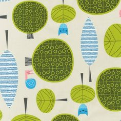 Critter Community Fabric by Suzy Ultman for Robert Kaufman, Critter Trees in Bermuda