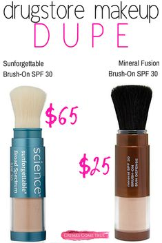 Drugstore Makeup Dupe for Sunforgettable SPF 30 Every day SPF use is easy with a brush on mineral powder! An affordable way to protect your skin from the sun's damaging (and aging) rays. Natural Hair Mask, Natural Hair Styles, Eyeliner, Eyeshadow, Drugstore Makeup Dupes, Skincare Dupes, Skincare Routine, Get Rid Of Blackheads, Mineral Powder