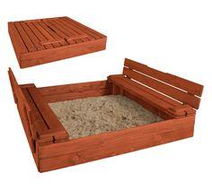Pískoviště dětské z masivního smrkového dřeva 120x120x25cm - Týk