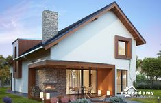 Modern Farmhouse Exterior, Modern Cottage, Best House Plans, House Elevation, Small House Design, Facade House, Little Houses, House In The Woods, Future House