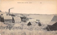 Eastport Maine Prince's Cove View From Uphill Antique Postcard V8253