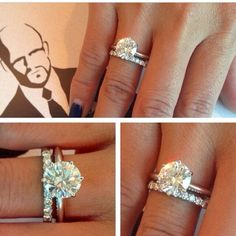 I love the band with diamonds all the way around to pair with the single diamond engagement ring just like mine!