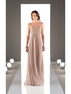 Empire Spaghetti Straps Chiffon Wedding Party Bridesmaid Dresses 3302028