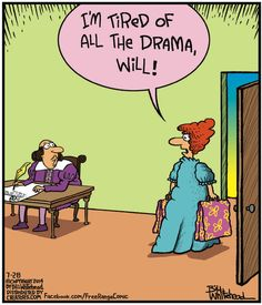 Tired of all the drama. Join us on Grammar Rant, because English should be treasured: http://grammarrant2014.com