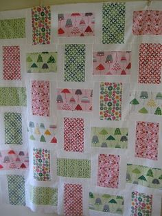 Remember these fabrics I bought last month when I went on my business trip? Well, I finally used them! Living in Seattle, this Rainy Days quilt seemed very appropriate. :) I wanted to share this pa…