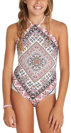 909a287dab59b Moon Tribe One-Piece Swimsuit - Girls   swimsuit modest coverage Billabong