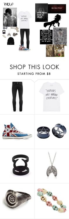 """Wolf"" by quinnfrey ❤ liked on Polyvore featuring Alexander McQueen, Atlantis, Converse, The Rogue + The Wolf, Dorothy Perkins, men's fashion and menswear"