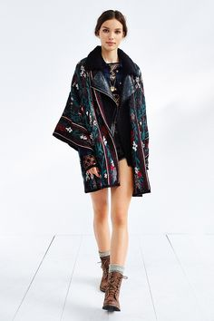 Ecote Patterned Kimono Cardigan - Urban Outfitters