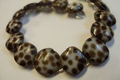 hand formed stoneware bracelet in earthy white with by lyncarey, $40.00