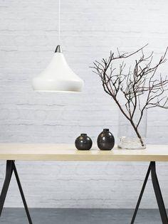 Moderne Pendelleuchte Fascino Weiß auch für industriellen Look