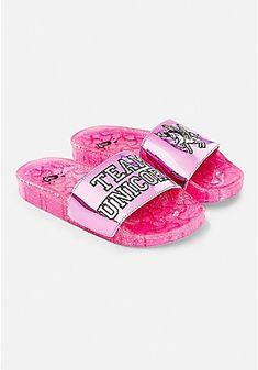 8950bff3b6b16a Justice. Glitter SlidesGlitter SandalsSparkles ...