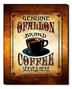 Ofallon Brand Coffee Gallery Wrapped Canvas Print ZuWEE…