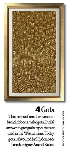 Exquisite Embroideries- GOTA