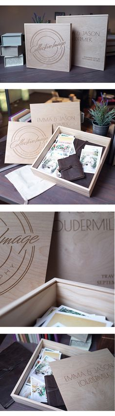 Create the ultimate package with our Wooden Album Boxes.