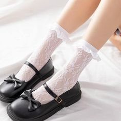 Our socks are Cotton, so can be washed in machine if required.Fun and funky socks with handmade trim, to bring a little colour to your outfit or to match with your Dress. Frilly Socks, Funky Socks, Lace Socks, Kawaii Shoes, Kawaii Clothes, Sock Shoes, Cute Shoes, Lolita Shoes, Fashion Socks
