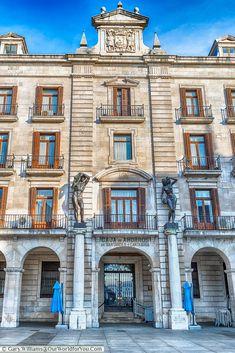 Beautiful architecture in the Plaza de Velarde, Santander, Spain