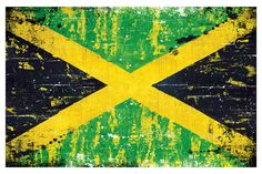 Jamaican Flag  18 x 12 Art Print Poster by PointBlankDesign
