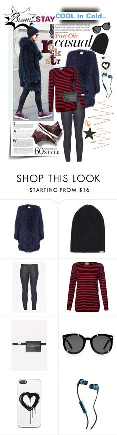 """""""Stay Cool in Cold!"""" by watereverysunday ❤ liked on Polyvore featuring EAST, Vans, G-Star Raw, French Connection, Orwell + Austen, Bebe, Karen Walker, Zero Gravity, Skullcandy and STELLA McCARTNEY"""