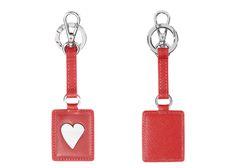 "Leather key ring ""heart"" - Saffiano Icon - NAVA Design! #ValentinesDay"