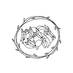 Sleeping Foxes Hand Embroidery Pattern Printable Woodland Animal Digital Downloadable Download