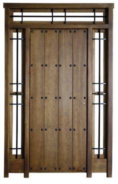 Puertas de madera modernas de eurodoor ofrece un extenso for Puertas rusticas exterior