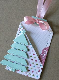 Tags.  Great bow treatment and great for a gift card!!