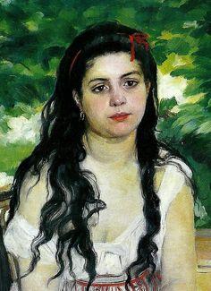"""""""Summertime (La Bohémienne)"""" (detail), 1868, Pierre-Auguste Renoir."""