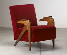 kiwigay:  'tridente' reclining armchair by lina bo bardi, brazil, 1949 circacaviuna wooden structure, not original upholstery
