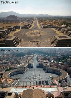 Teotihuacan and Vatican city Ancient Mysteries, Ancient Ruins, Ancient Artifacts, Ancient Egypt, Ancient History, Interesting History, Ancient Architecture, African History, Ancient Civilizations